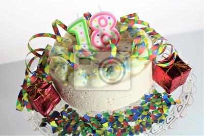 Ein Bild Von Einem Geburtstagskuchen 18 Geburtstag Leinwandbilder
