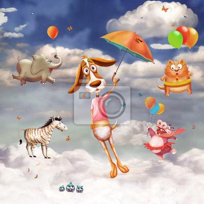 Ein Bild von fliegenden Tieren