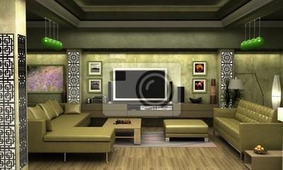 Bild Ein Interieur Visualisierung Ein Wohnzimmer.