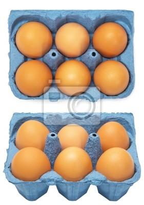 Bild Ein Karton sechs Eier