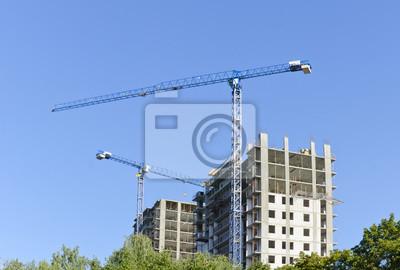 Ein Kran auf einer Baustelle