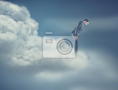 Ein Mann auf Wolke