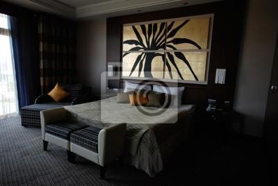 Bild Ein Schlafzimmer Mit Einem Gemälde.