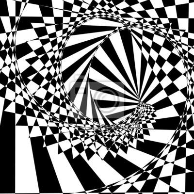Ein Schwarzweiss-optische Täuschung