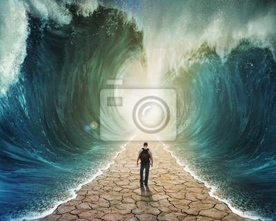 Ein Spaziergang durch das Wasser