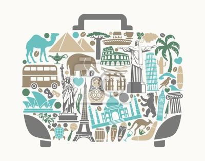 Ein Symbol für Tourismus und Reisen