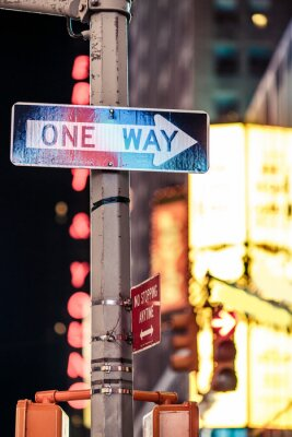 Bild Ein Weg, New York Verkehrszeichen