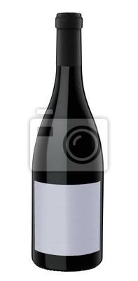 Bild Eine Flasche Rotwein, isoliert auf weiß mit Clipping-Pfad.