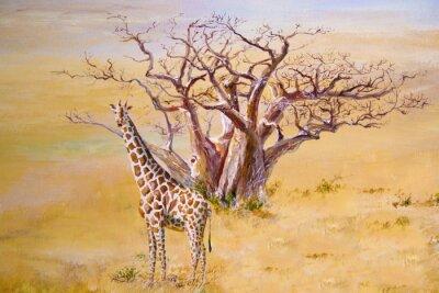 Bild Eine Giraffe, Kenia