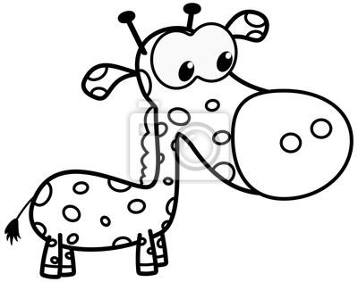 Bild Eine Junge Giraffe Zum Ausmalen