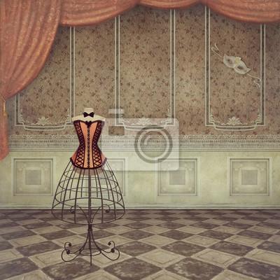 Eine romantische Vintage Dummy im Zimmer