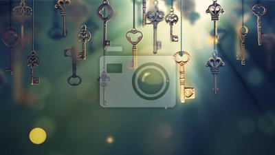 Bild Einmaliges Bild mit hängenden Schlüsseln