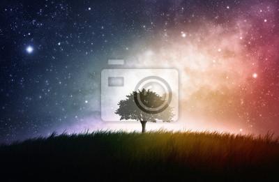 Einzelner Baum Raum Hintergrund