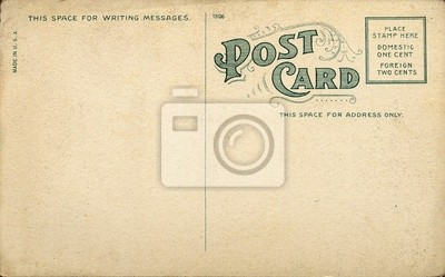 Bild Einzigartige Vintage leere Postkarte