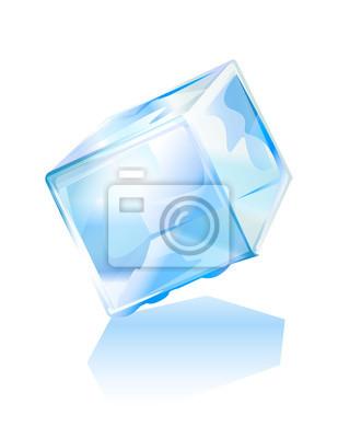 Bild Eisblock Symbol Vektor-Illustration von Tiefkühlblock