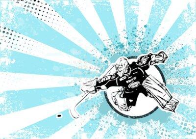 Bild Eishockey retro Hintergrund