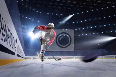 Eishockeyspieler auf der Eisarena
