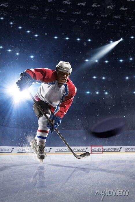 Bild Eishockeyspieler auf der Eisarena