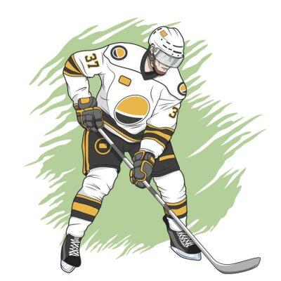 Bild Eishockeyspieler weiß