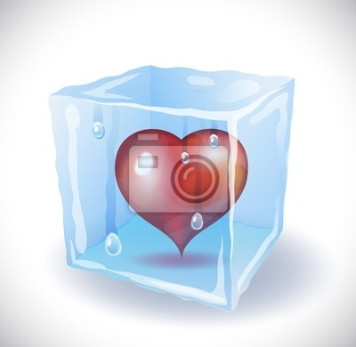 Eiswürfel mit Herz