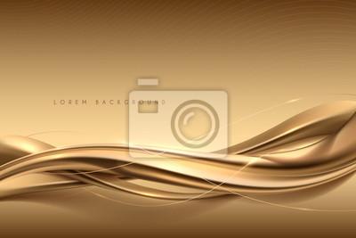 Bild Elegant abstract gold silk background