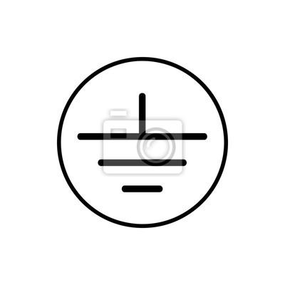 Elektrische erdung symbol leinwandbilder • bilder bedeuten, Quelle ...
