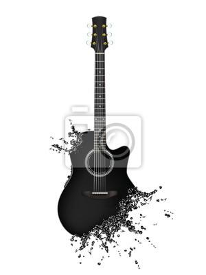 Elektrische gitarre leinwandbilder • bilder schöne, Kreativität ...