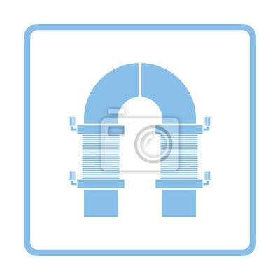 Elektrische magnet-symbol leinwandbilder • bilder Kommutator ...
