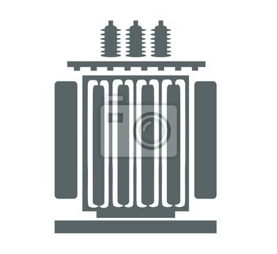 Elektrisches transformator-symbol leinwandbilder • bilder Heizung ...