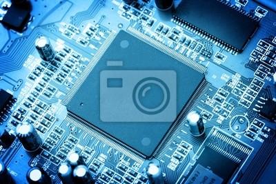 elektronische Schaltung close-up. Makro-Hintergrund