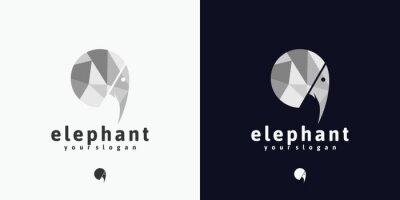 Bild elephant head logo reference