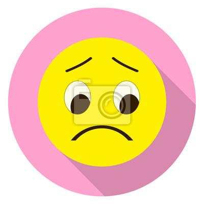 Emoticon Trauriges Gesicht Traurig Emoji Isolierte Vektor