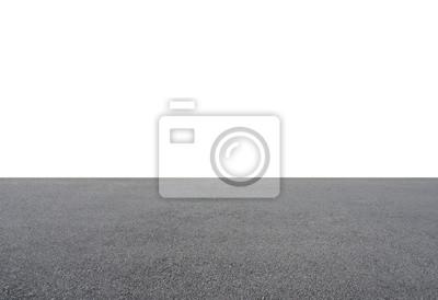 Bild Empty asphalt floor isolated on white background