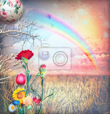 Enchanted Regenbogen in der Landschaft Serie