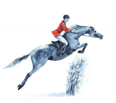 Bild England Pferdesport. Handzeichnung illustration.
