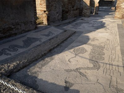Bild envy house mosaic old ancient ostia archeological ruins