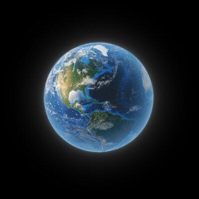 Bild Erde aus dem Weltraum, die Nord- und Südamerika