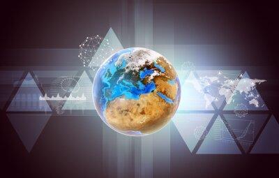 Bild Erde mit Weltkarte