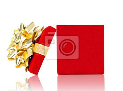 Eröffnet Geschenk-Box für jeden Anlass Isoliert auf Weiß