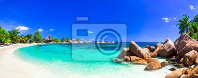 Bild Erstaunliche tropische Ferien in den paradiesischen Stränden der Seychellen, Praslin