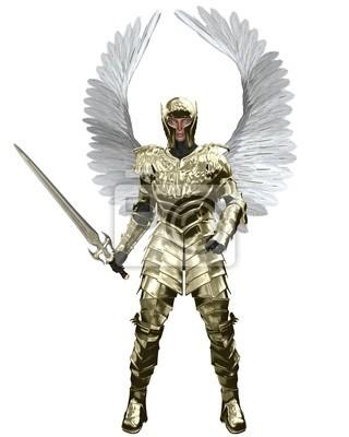 Erzengel Michael in Golden Armour