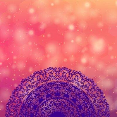 Bild Ethnic & Colorful Henna Mandala design, very elaborate and easily editable