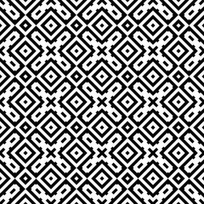 Bild Ethnic ornament. Tribal wallpaper. Embroidery background. Ethnical folk image. Tribe motif. Ancient mosaic. Digital paper, web design, textile print, backdrop. Seamless abstract art. Vector artwork.