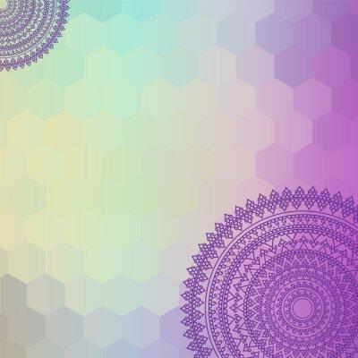 Bild Ethnische und bunten Henna Mandala Design, sehr aufwändige und leicht editierbaren