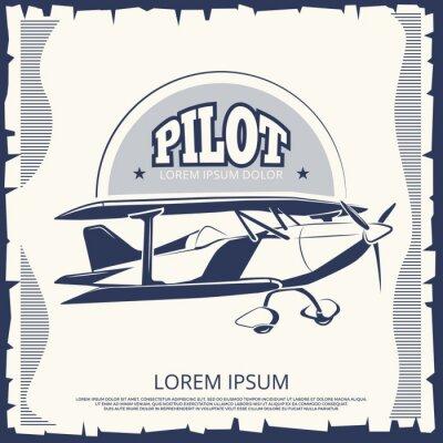 Bild Etikettenentwurf - Vintages Plakatflugzeug