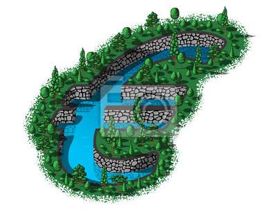 Euro sign shape of waterhole