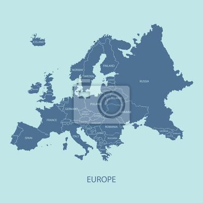 Länder Europas Karte.Bild Europa Karte Mit Grenzen Und Namen Der Länder Zu Videos