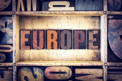 Bild Europa Konzept Buchdruck Typ