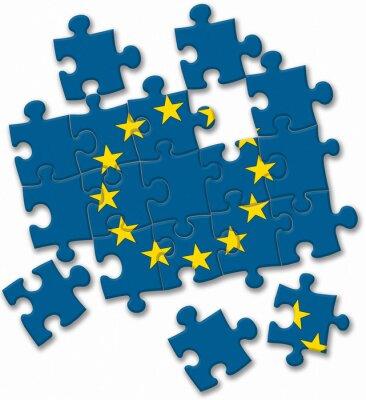 Bild Europäische Union EU-Flag Puzzle auf dem weißen Hintergrund