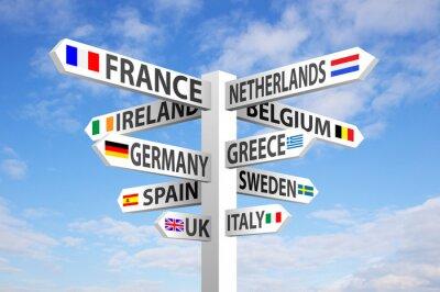 Bild Europe Signpost